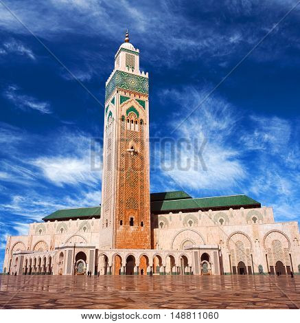 Famous Hassan Ii Mosque In Casablanca, Morocco