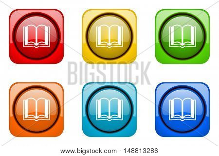 book colorful web icons