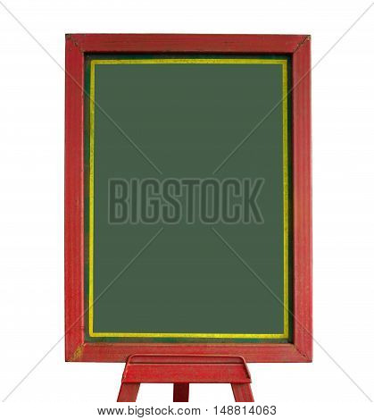 Close up blackboard isolated on white background.