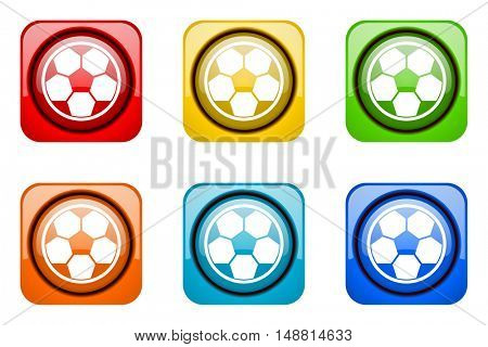 soccer colorful web icons