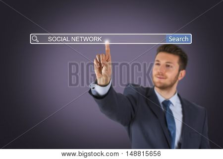 Social Network on Search Engine Working Conceptual Business Concept