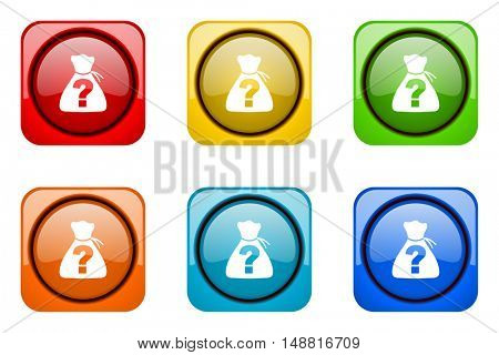 riddle colorful web icons