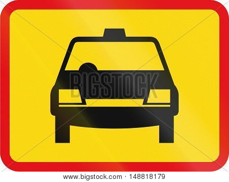 Temporary Road Sign Used In The African Country Of Botswana - The Primary Sign Applies To Taxis