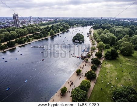 London big hyde park in the city for chilling aerial 2
