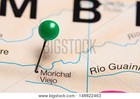 Morichal Viejo pinned on a map of Colombia
