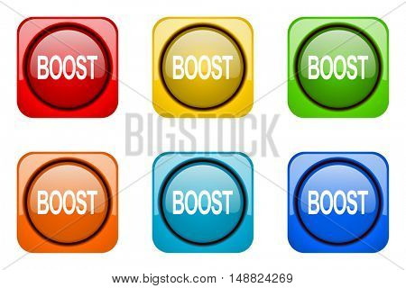 boost colorful web icons