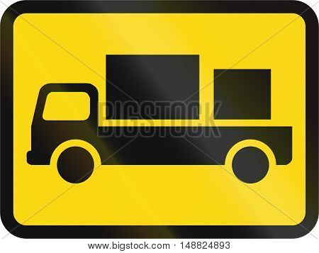 Temporary Road Sign Used In The African Country Of Botswana - The Primary Sign Applies To Delivery V