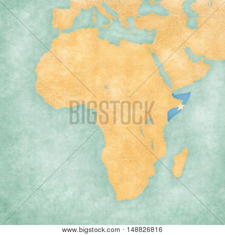 Map Of Africa - Somalia