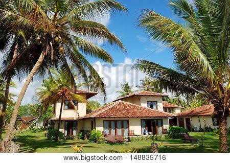 Holiday villa at the popular hotel and palms Bentota Sri Lanka