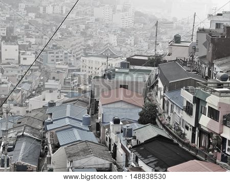 Gamcheon Village began as a refugee shantytown during the Korean war.