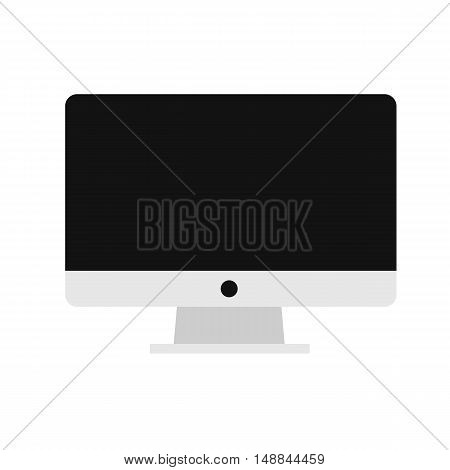 Computer Icon, Lcd Monitor, Flat Style ,