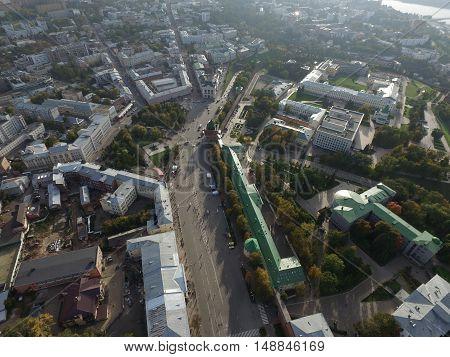 City Nizhny Novgorod, Russia. shooting height of 500 meters. Uptown.