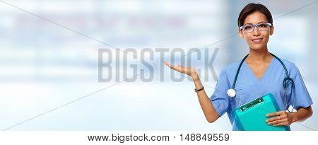 Chinese nurse woman.