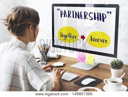 Girl Computer Positivity companionship Concept