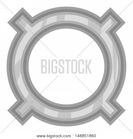Sign for all currencies icon in black monochrome style isolated on white background. Currency symbol vector illustration
