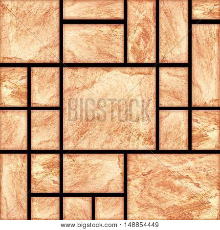 modern slab slat stone wall background .