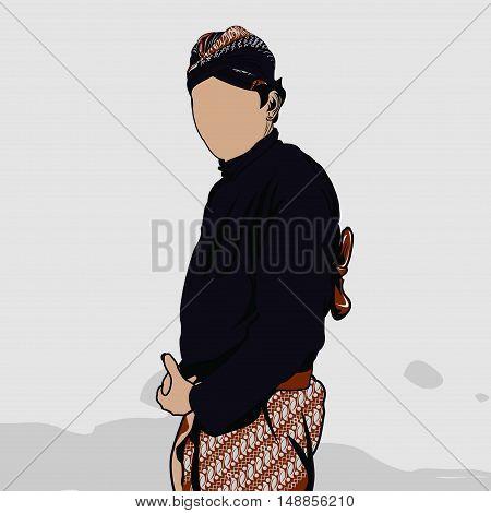 JOGJA ABDI DALEM IN VECTOR BATIK INDONESIA