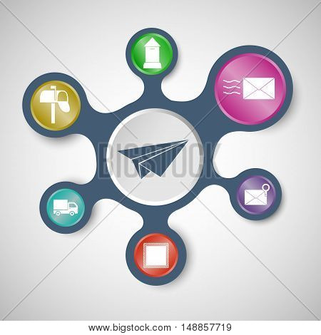 Post infographic templates with connected metaballs, stock vector