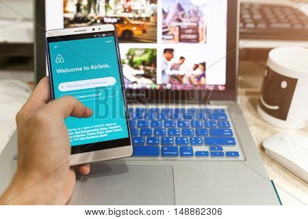 Android Device Showing Airbnb Application On The Screen