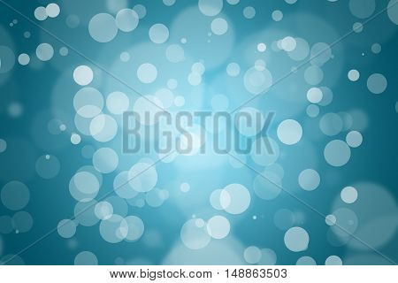 abstract background blue bokeh. dark blue background