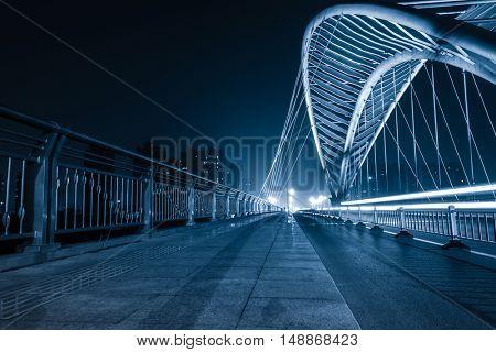 sidewalk on jiefang bridge,tianjin,china.