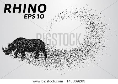 Rhino of the particles. Rhino consists of small circles.