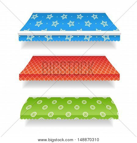 Colorful Awnings for Retailers with a Different Design. Vector illustration