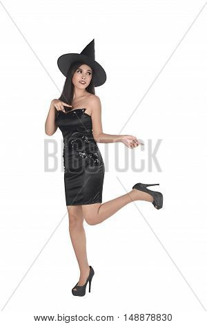Asian Witch Woman With Black Hat