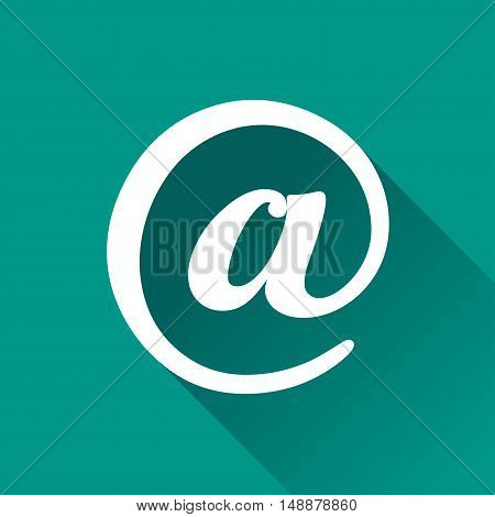 Illustration of at sign design icon with shadow