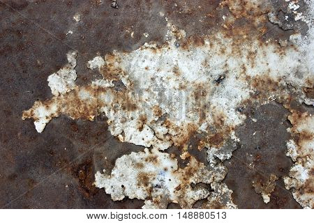 Photo rust on metal, paint on rusty metal