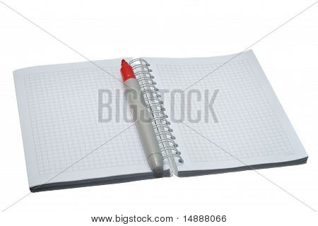 notebook with marker