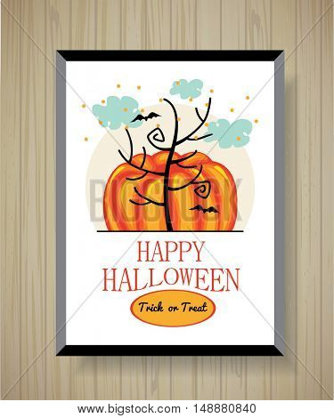 Halloween poster in frame