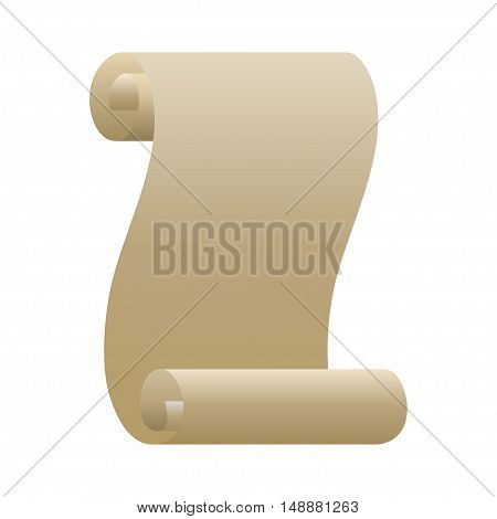 Paper scroll. Paper rolls on white background. Vector illustration