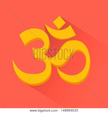 Om sign. Induism symbol, Vector illustration, EPS10