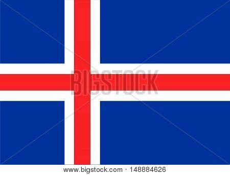 Iceland national flag. Vector stock illustration, EPS10
