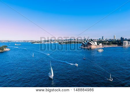 Sydney Opera House NSW Australia. Sep 26,2016 The Sydney Opera House is famous arts center. Over 10 millions tourists visit Sydney a year.