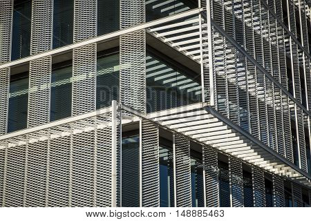 Detail Of A Contemporary Modern Offices Building