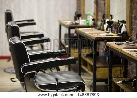 Indoors Image Of Barbershop