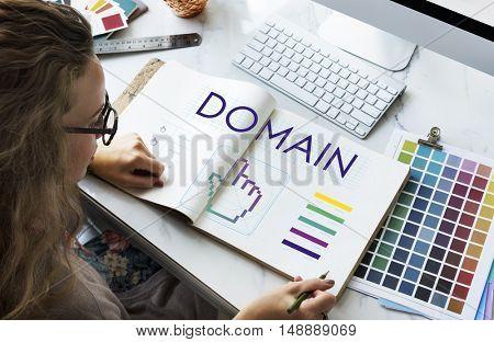 Domain Links Seo Webinar Cyberspace Concept