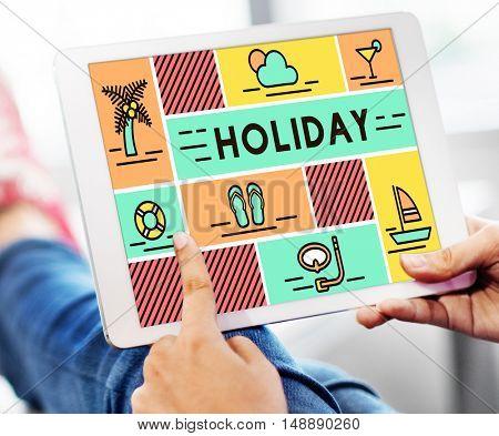 Holiday Break Festival Journey Relaxation Travel Concept