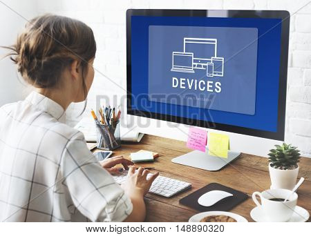 Devices Digital Design Innovation Computer Concept