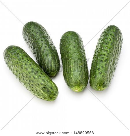 Cucumber vegetable isolated on white background cutout