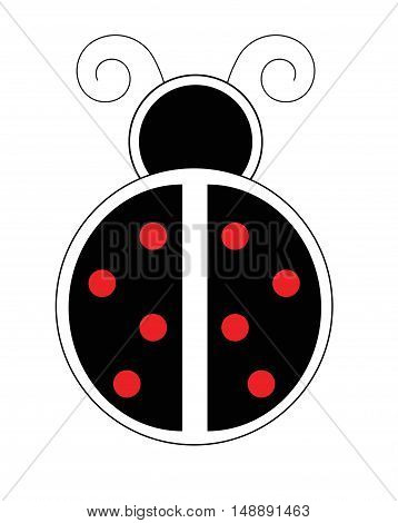 Different Ladybug with Red Polkadots and Black Body