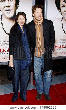 "Amanda Anka and Jason Bateman at the World Premiere of ""Walk Hard"" held at the Grauman's Chinese Theater in Hollywood, USA on December 12, 2007."