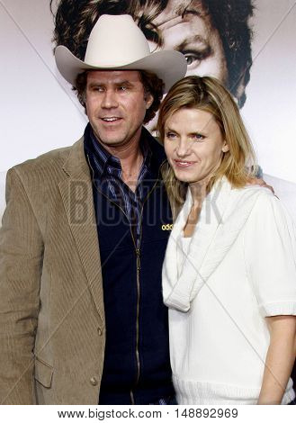 """Will Ferrell and wife Viveca at the World Premiere of """"Walk Hard"""" held at the Grauman's Chinese Theater in Hollywood, USA on December 12, 2007."""