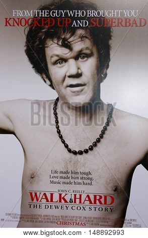 """Poster art at the World Premiere of """"Walk Hard"""" held at the Grauman's Chinese Theater in Hollywood, USA on December 12, 2007."""