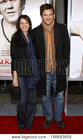 Amaanda Anka and Jason Bateman at the World premiere of 'Walk Hard' held at the Grauman's Chinese Theater in Hollywood, USA on December 12, 2007.