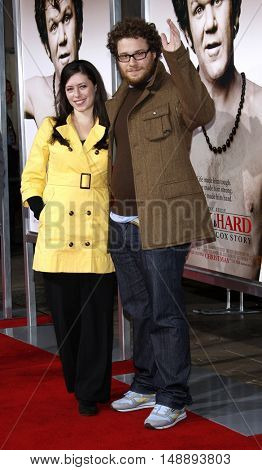 Seth Rogen and Lauren Miller at the World premiere of 'Walk Hard' held at the Grauman's Chinese Theater in Hollywood, USA on December 12, 2007.