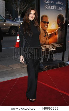 Paz Vega at the World premiere of 'The Bucket List' held at the ArcLight Theaters in Hollywood, USA on December 16, 2007.
