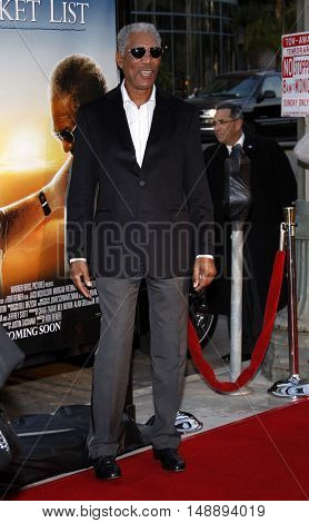 Morgan Freeman at the World premiere of 'The Bucket List' held at the ArcLight Theaters in Hollywood, USA on December 16, 2007.